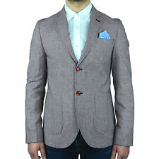 Giacca Sartoriale Slim Fit Uomo Vincent Trade Microfantasia Rossa Made In Italy