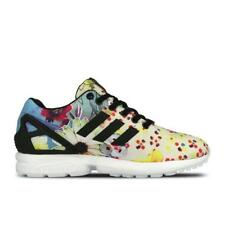 Womens ADIDAS ZX FLUX W Flower Multicolour Synthetic Trainers S78976