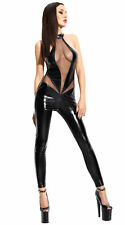 Wetlook tuta Angela Perizoma Donna Tute Body intero in nero Demoniq Lingerie