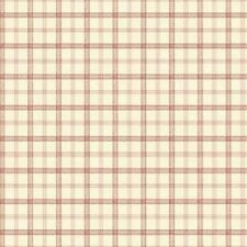 Dollhouse Wallpaper Kitchen Plaid Red