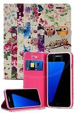 For Samsung Galaxy S7 Edge Duos Dual SIM  Fun Luxury Flower Magnetic Wallet Case
