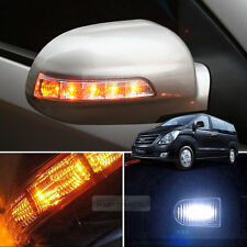 2Way LED Side Mirror Turn Signal Light Repeater Cover For HYUNDAI 07-18 i800 H1