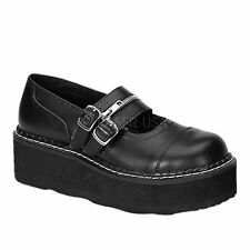 DEMONIA EMILY 306 Ladies Shoes Goth Punk Buckle Zip Lolita Rockabilly Oxford
