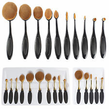 Deluxe Oval Makeup Brush Sets For Face and Eyes Various Sizes and Colours