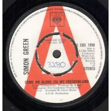 """SIMON GREEN Come On Along 7"""" VINYL UK Cbs 1974 Promo But Has Number On Label"""