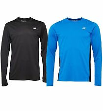 NEW BALANCE MENS ACCELERATE LONG SLEEVE RUNNING TOP in BLACK OR BLUE