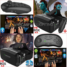 Universal 3D Virtual Reality VR BOX Glasses Headset and Wireless Remote Game Pad