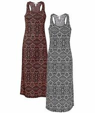 NEW Ambience Apparel Ladies Inca Tribal Pattern Sleeveless Fitted Maxi Dress MED