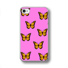CARTOON BUTTERFLY PATTERN PINK Hard  Phone Case FITS IPHONE MODELS.