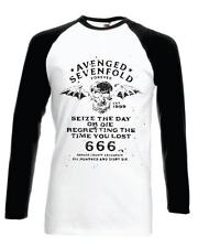 Official TShirt AVENGED SEVENFOLD Vintage SEIZE THE DAY BASEBALL T-SHIRT