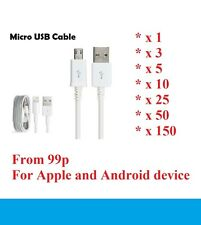 BULK Lightning Sync data Charger iPhone, Micro USB Android Lead Samsung HTC LOT