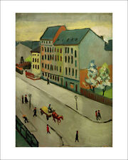 Macke - Our Street in Grey - fine art giclee print poster - various sizes
