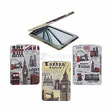 London Travel Pocket Handbag Cosmetic Makeup Portable Folding Mirror Souvenir UK