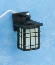 Dollhouse Miniature Craftsman Outdoor Coach Lamp in Black by Miniature House