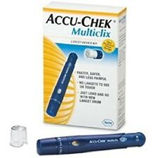 NEW Roche Accu Chek Multiclix Lancing Device, AST cap & Box 102 Lancets