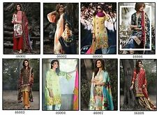 SK Glace Cotton with Embroidery Fabric Fancy Printed Womens Dress Material 46001