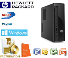 ORDENADOR SOBREMESA HP + SOFTWARE DE FACTURACION Y CONTABILIDAD + WINDOWS 10 PRO
