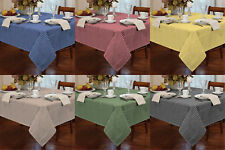 Garden Picnic Gingham Check Tablecloth Dining Room Table Linen Kitchen Cover Mat