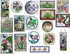 Dollhouse Miniature 1:12 Stained Glass Windows Clear Stickers