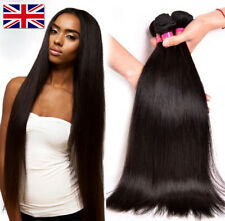 100g Brazilian Peruvian Straight Real Virgin Human Hair Extension Wefts 7A Weave