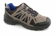 Mens New Grey Trek Trail Walking Hiking Lace Up Shoes 6 7 8 9 10 11 12