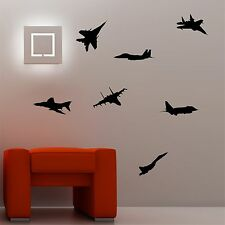 Jets Set Of Seven Silhouettes Wall Art Decal Stickers Part 73