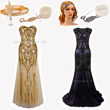 Gatsby Ball Prom Gown 1920s Flapper Dress Evening Party Bridesmaid Long Dresses