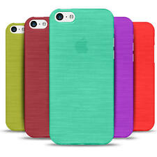 Hülle für Apple iPhone Handy Case Slim Cover Silikon TPU Schutzhülle Brushed