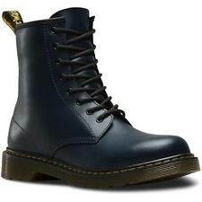 Dr Martens Delaney Youth Navy Leather Ankle Boots