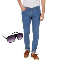Haltung Mens Slim Fit Jeans - Free Sunglasses (HALTUNG-MJ-DARK-BLUE-SUNGLASSES)