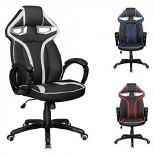 FineBuy Silla de oficina Star Race Negro / Rojo Gaming Gamer Silla Racing Silla