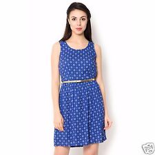 Red And Blue Color Viscose Knee Length Combo Of 2 Western Dress For Women's