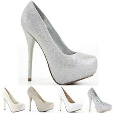 Womens Party Platform Pumps High Heels Stiletto Prom Court Shoes Size Bridesmaid