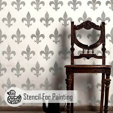FLEUR DE LYS French Allover Stencil - Furniture Wall Floor Stencil for Painting