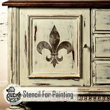 FLEUR DE LYS French Single Motif - Furniture Wall Floor Stencil for Painting
