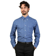 Brooks Brothers - Camisa slim fit color azul oscuro a cuadros Hombre chico