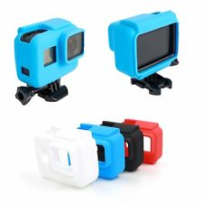 For GoPro HERO 5 Sideframe Soft Silicone Protective Housing Case Cover Black @W