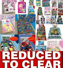 Clearance Disney Cartoon Kids Bedding Single Double Duvet Cover Bed Set REDUCED