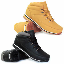 New Mens Lace Up Boots Winter Boys Combat Hiking Work High Top Ankle Shoes Size