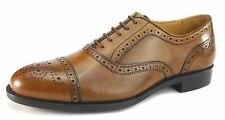 Mercanti Fiorentini Nairobi 7010 Leather Mens Brogue Lace Up Cuoio Tan Shoes
