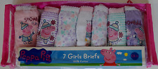 Peppa Pig Girls Pink Lilac Pants Briefs Knickers Underwear x 7 Age 2 3 4 5 6 NEW