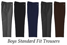 Boys School trousers Pull Up Ex M/&S School Grey or Charcoal Grey Age 2-6 yrs