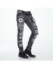 BALCK FRIDAY SALE 50% CIPO BAXX  MENS JEANS   SLIM FIT    LEG BLACK  CD340