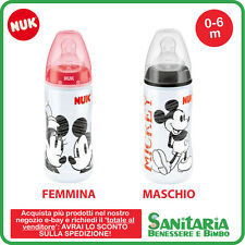 NUK Disney Mickey Topolino First Choice+ Biberon SILICONE, 300 ml