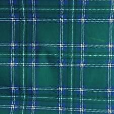 Printed poly cotton GREEN TARTAN 115cm poly cotton sold by the metre DD