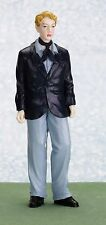 Dollhouse Miniature Young Man in Blue Suit (Dan)