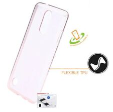 LG Aristo LV3 K8 Phoenix 3 Fortune Hybrid Transparent Silicone Case Cover + Kit