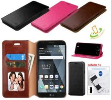 LG Aristo LV3 K8 Phoenix 3 Fortune K4 Leather Card Wallet Case Cover Stand + Kit