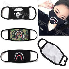 A Bathing Ape Bape Shark & Bape LOGO BLACK Camo Face Mask Free shipping 3 Colors