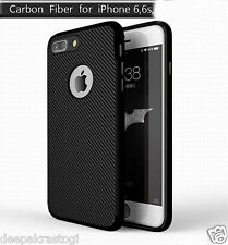 New Luxury Carbon Fiber Soft Slim TPU Back Case Cover For Apple iphone 6 /6s